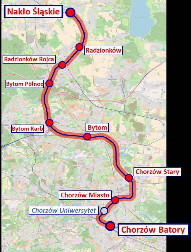 remont linii z Górnego Śląska