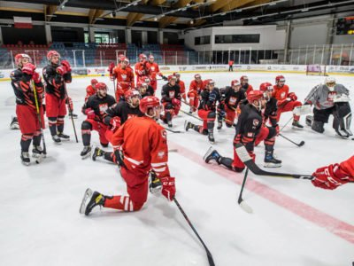 Treningi Kadry Narodowej Seniorów na hali lodowiska w Bytomiu