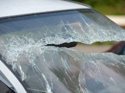 bytomianin zniszczył samochód